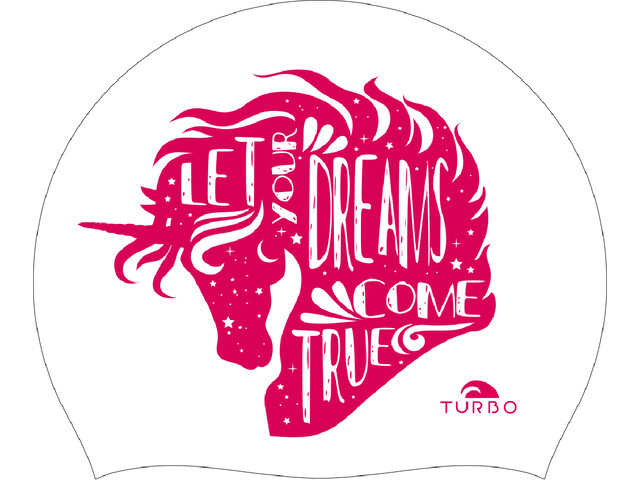 Turbo Let Yours Dreams Come True Bonnet de bain, white